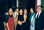 Raj with Priya, Dad and cousins Alka, Bindu and Rajesh