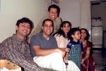 Raj with cousins in Mumbai