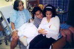 Raj with sisters Shalini and Priya at the birth of nephew Rohan