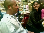 Raj and Anjani at Cafe Lalo in NYC