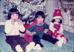 Raj with cousins Anil and Renuka