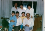 Raj with cousins and uncles in Mumbai